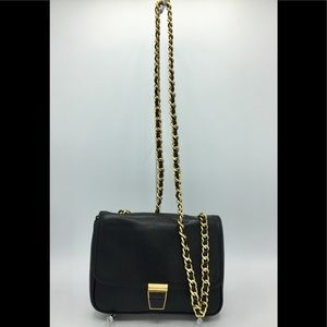 Coccinelle Black Leather Shoulder Crossbody Bag